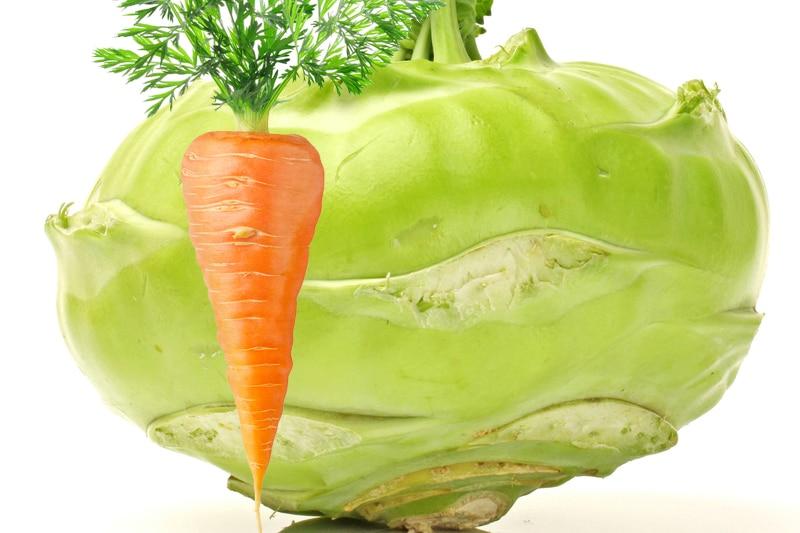 Juicing chou rave et carotte