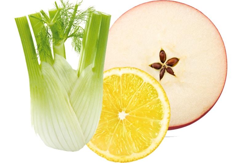 juicing pomme, fenouil, citron