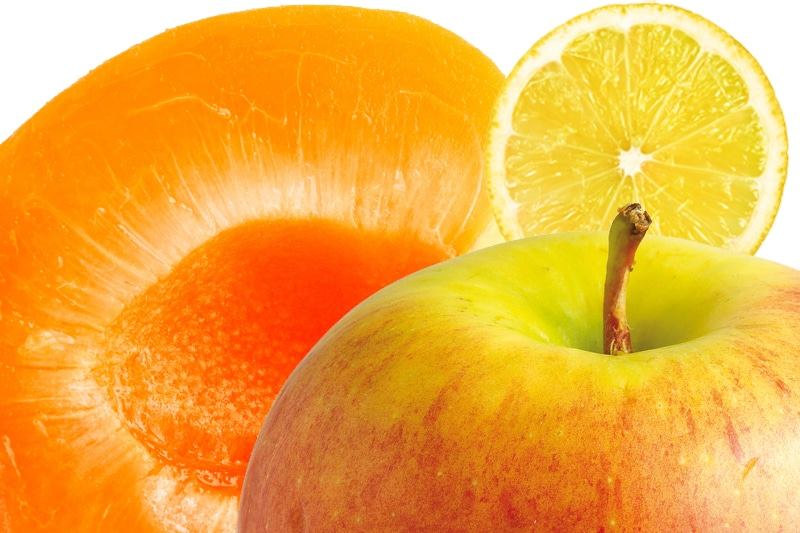 smoothie abricot, pomme, citron