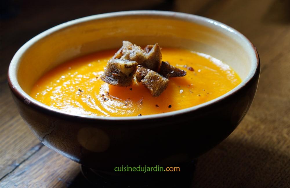 Potage de carotte et potimarron à l'anis étoilée