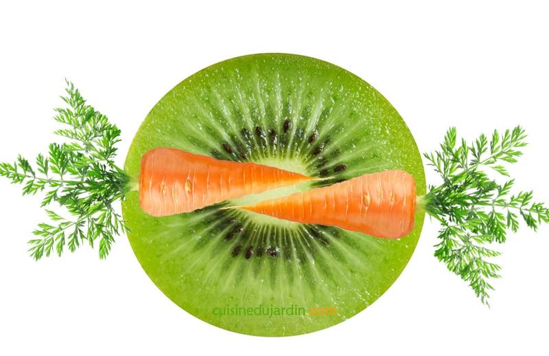 Juicing kiwi carotte