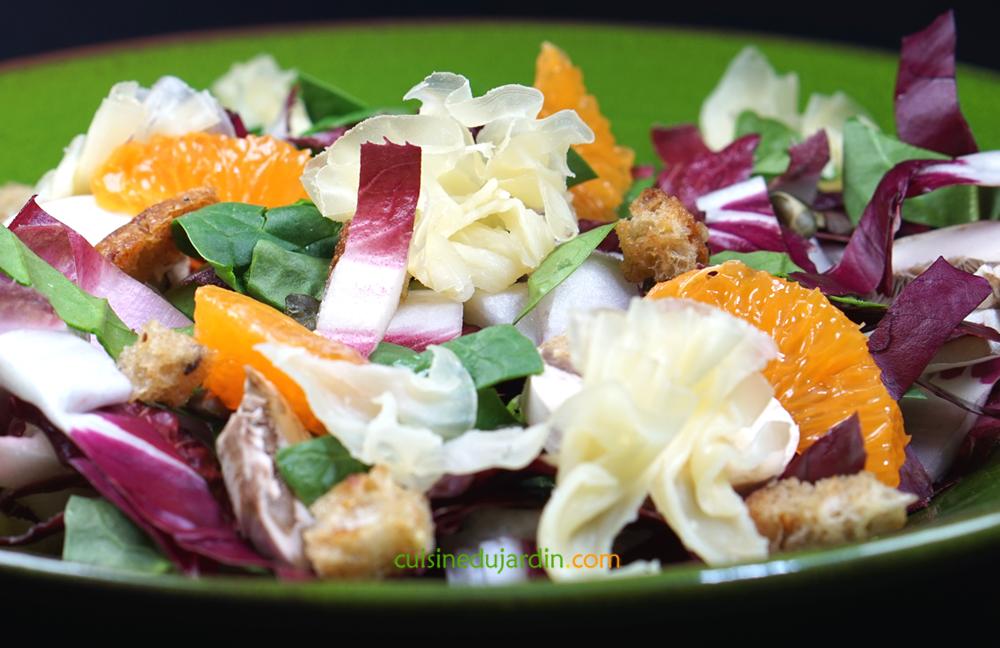 Salade d'endives aux couleurs de saison